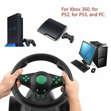 Gaming Vibration racing steering car wheel pedals pour XBOX 360 PS2 PS3 PC USB NC