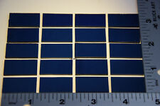 """Midnight Blue 1/2"""" x 1"""" 3mm Thick Fusible Bullseye Glass 90 Coe Compatible"""