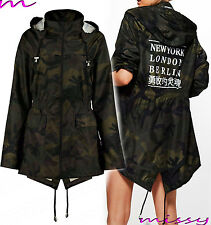 NEW Ladies JACKET RAIN MAC PARKA Womens SHOWER Festival RAINCOAT Size 8-24CITIES