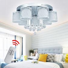 7 flammig LED Kristall Deckenlampe Kronleuchter Kaltweiß + RGB Hängelampe Luster