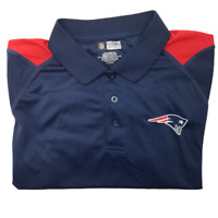 NFL New England Patriots Men's XL Blue Red Performance Golf Polo Polyester