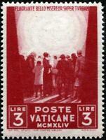 Vaticano - 1945 - Opere di Carità - Varietà - SASSONE n.100a - MNH