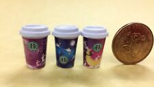 Accessories Coffee Miniature Starbucks Style Hot Drink 3PCS ❤ re-ment Size #610