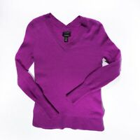 Halogen Women's 100% Cashmere V Neck Knit Pullover Long Sleeve Sweater XS