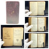 The Holy Bible, Old and New Testaments, KJV, Oxford University, Inscribed 1895