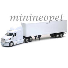 NEW RAY 12343 G LONG HAULER PETERBILT 387 SEMI TRUCK with CONTAINER 1/32 WHITE