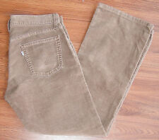 LEVI STRAUSS & CO. LOW BOOT CUT 527 Corduroy Jeans 34x32 LIGHT BROWN TAN CASUAL