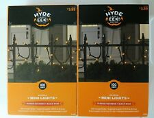 Lot of 2 Hyde and Eek! Boutique 100ct Mini String Lights Orange 22 ft