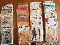 Lot of 28 Patterns - GREAT VALUE - CRAFTS, CLOTHES, QUILTS - ALL COMPLETE!