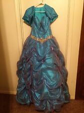 Blue And Purple Ballgown Prom Or Quinceanera Dress