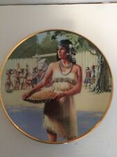 """Pocahontas Noble American Indian Woman 8 1/2"""" Plate Collection by David Wright"""