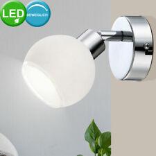 LED Retro Wand Spot Chrom Kugel Leuchte beweglich Wohn Arbeits Zimmer Lese Lampe