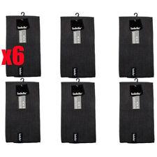 6 Pack Black Ladelle Microfibre Glass Cloth Tea Towels | Lint and Streak Free