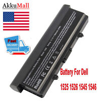 9 Cell 7800mAh Battery for Dell Inspiron 1525 1526 1545 Laptops
