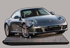 MODEL CARS, PORSCHE 911-CARRERA-01, car passenger,11,8x 7,8 inches  with Clock