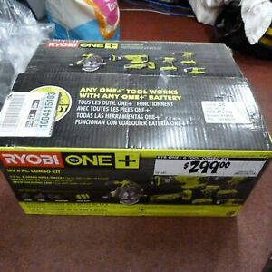 Ryobi ONE+ 18V Cordless 6-Tool Combo Kit With (2) Batteries, Charger