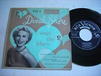 w PICTURE SLEEVE Dinah Shore Sings the Blues Vol. 1 1954 45rpm EP VG++