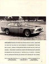 1959 ASTON MARTIN DB4 / DB 4  ~  CLASSIC ORIGINAL PRINT AD