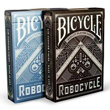 Robocycle 2 Deck Set Blue Black Bicycle Playing Cards Poker Size Uspcc Limited