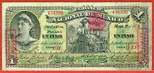 EL BANCO NACIONAL DE MEXICO 1.5.1889 CHIHUAHUA 1 PESO (PICK#S255d) VF (SCARCE)