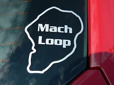 Mach Loop car sticker for the RAF & USAF Fast Jet route around the welsh valleys