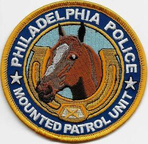PHILADELPHIA Reiter MOUNTED PATROL UNIT Police Patch Polizei Abzeichen PENNSYLV.