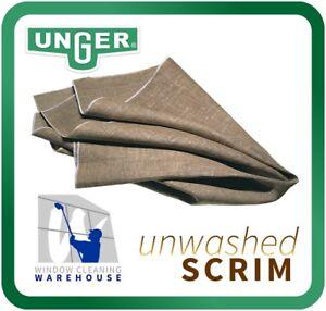 Unger PREMIUM Grade A Scrim UNWASHED 92cm x 92 cm WINDOW CLEANING