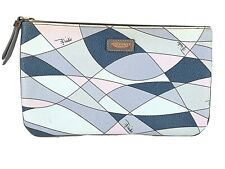 Emilio Pucci Cosmetic Toiletry Bag Stamped Made in Italy Blue Multicolored