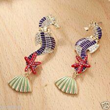 long Ear Studs hoop earrings 1064 Hot Woman Statement clear crystal Rhinestone