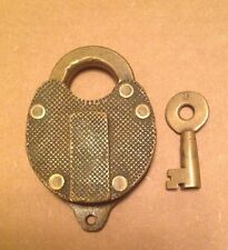 Antique Brass Padlock with Key Vintage Lock And Key