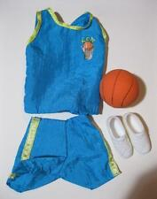 KEN DOLL barbie Fashion Outfit Clothes/Shoes-Blue Tank/Shorts Basketball ball