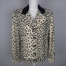 CRISCIONE ,Jacket,blazer leopard print black cream stretch ug