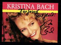 Kristina Bach Autogrammkarte Original Signiert ## BC 132282