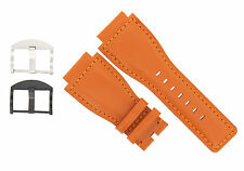 24MM GENUINE WATCH BAND STRAP SMOOTH FOR BELL ROSS BR-01-BR-03 ORANGE #8B