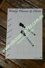 A4 Weekly Daily Chores Schedule Family Meal Planner Magnet Fridge Whiteboard +2P