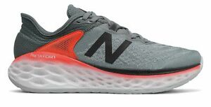 New Balance Men's Fresh Foam More v2 Shoes Grey with Red & Black