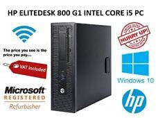 HP EliteDesk 800 G1 Intel Core i5 4th Gen  4GB RAM 500GB HDD Desktop PC Wifi
