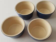 4 X Le Creuset Small blu/bianco dessert ciotole gres Taglia 10