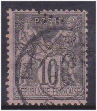 (K130-94) 1876 France 10c black on lilac peace (BP)