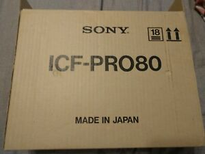 sony icf-pro80 scanning receiver with inner and outer box MINT NEW NOS