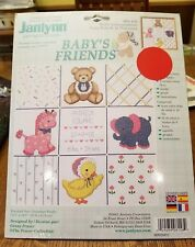 Janlynn, Baby's Friends birth announcement cross stitch