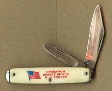 """Operation Desert Shield, UN Forces, """"No Slack for Iraq"""", U.S. Flag Pocket Knife"""