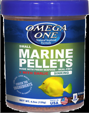 !! 4 !!  OMEGA ONE SINKING small MARINE PELLETS + Garlic   4.5 oz.  NEW/SEALED