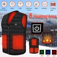 USB Electric Heated Warm Vest Winter Wear Heating Thermal Coat Jacket Men Women