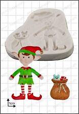 Moule silicone noël ELFE FPC décoration en pâte à sucre