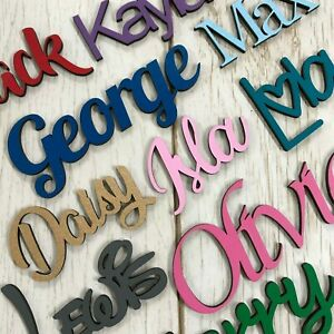 *PAINTED ANY COLOUR* Personalised wooden script name plaque sign - Words/Letters