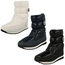 LADIES SNOWFUN SNOW BOOTS WITH RIPTAPE STRAP  IN NAVY, BLACK & WHITE 8.886709