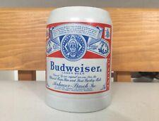 Vintage Ceramarte Budweiser Logo Beer Stein Mug Anheuser Busch Mug