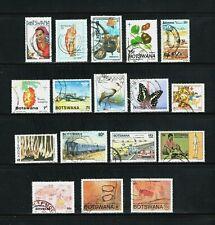 Botswana -- 17 diff used commemoratives -- cv $8.15