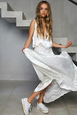 Shakuhachi Designer Maxi Dress Burn Out Ice White NEW NWT Size 6 / XS RRP $290